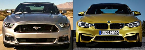2015 Ford Mustang GT vs BMW M4